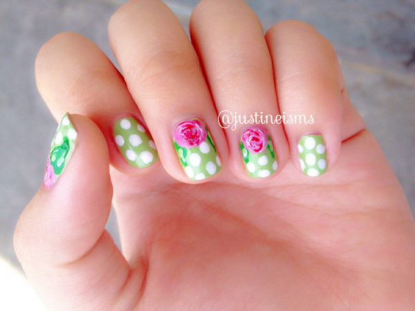 fresh green nail art bmodish