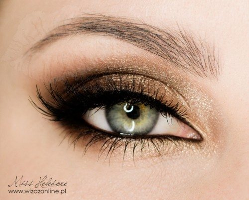 gold eye makeup look bmodish