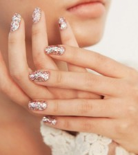 gold glitter wedding nails bmodish