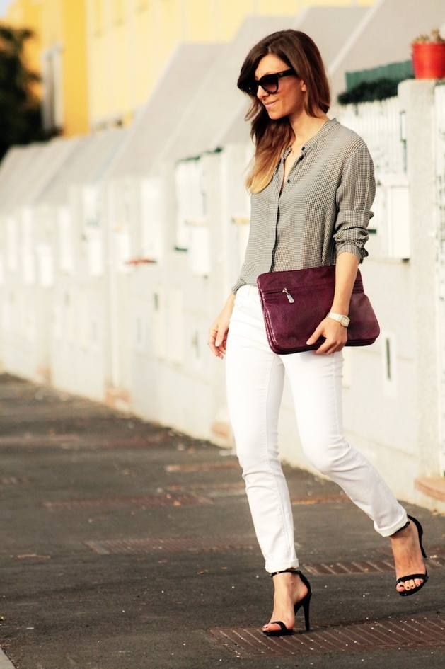 grey button up blouse bmodish