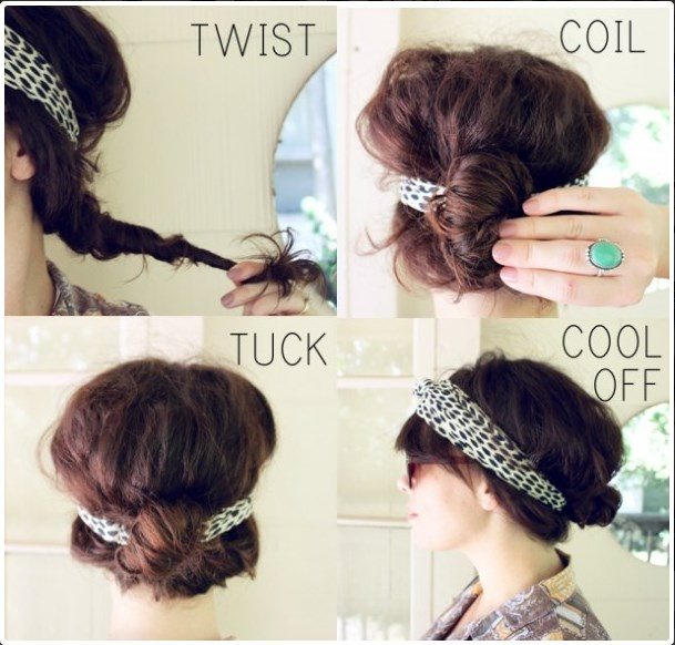 hairstyle with headband tutorial bmodish
