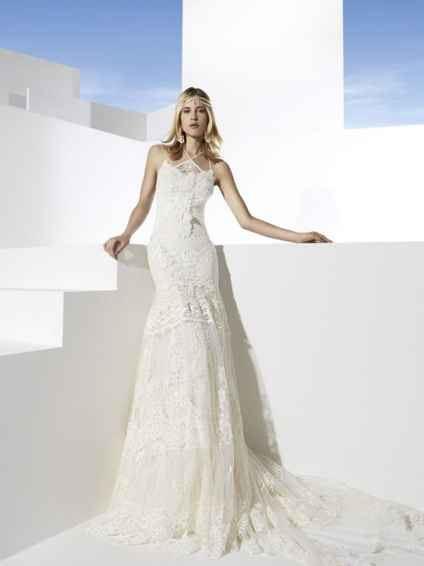 las vegas lace wedding dress yolan cris bmodish