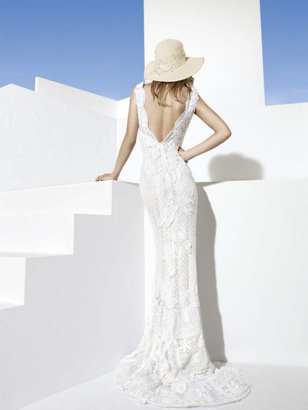 managua yolan cris boho lace wedding dress bmodish