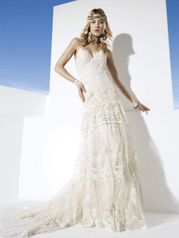 martinica boho lace wedding dress bmodish