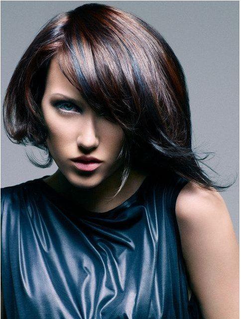 medium bob hairstyle with bang bmodish