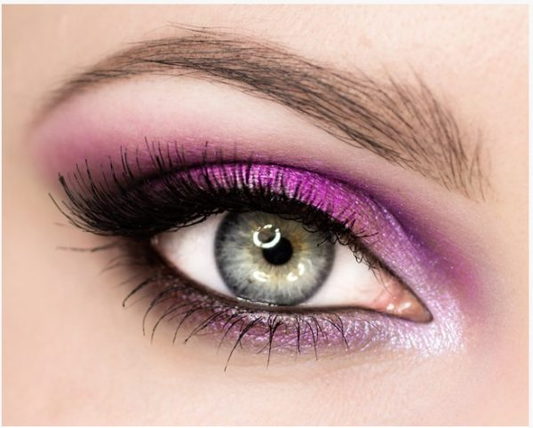 pink and silver sexy eye makeup bmodish