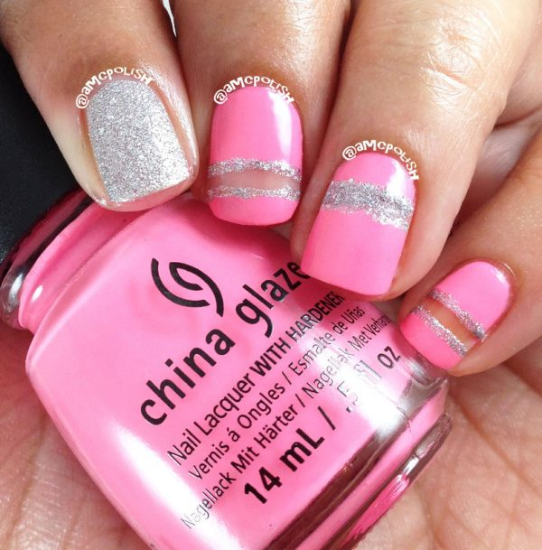 pink cut outs nail art bmodish