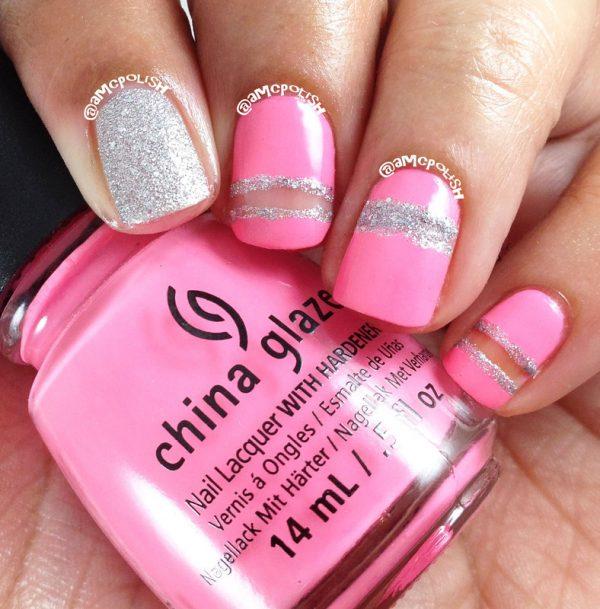 pink cut outs nail art bmodish