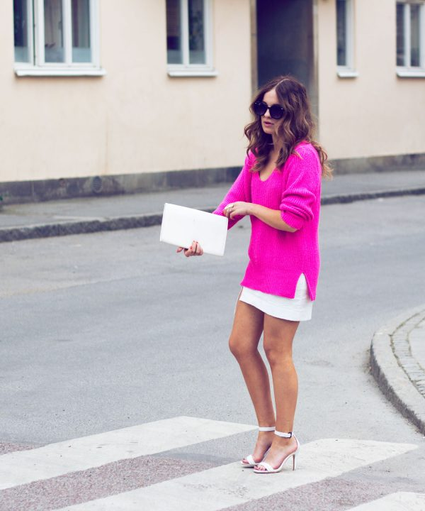 pink knit sweater bmodish