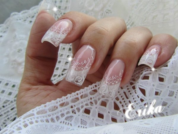 Pretty Bridal Nails Bmodish