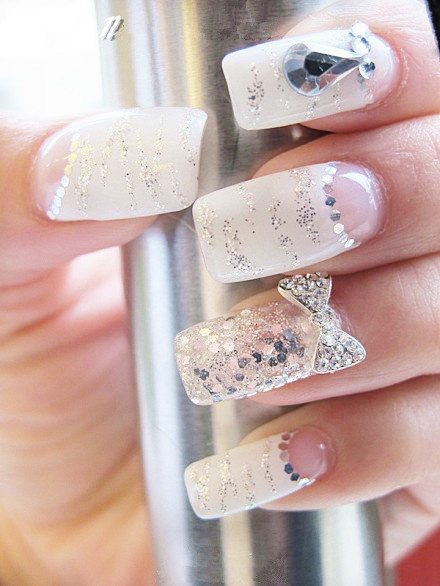 pretty wedding nails bmodish