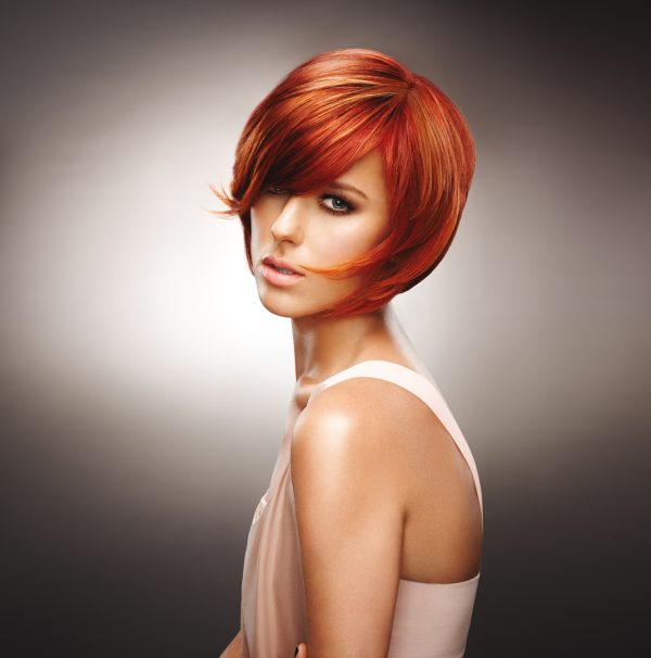red short bob hair style bmodish