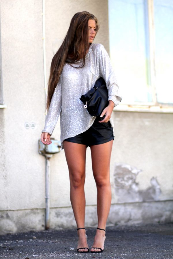 sequin top outfit bmodish