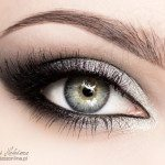 silver metallic eye makeup bmodish