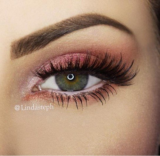 simple and fresh pink sexy eye makeup bmodish