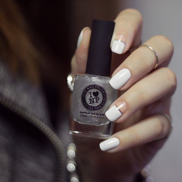 simple negative wedding nail design bmodish