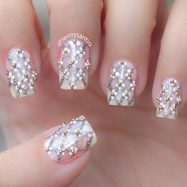 simple wedding nails bmodish