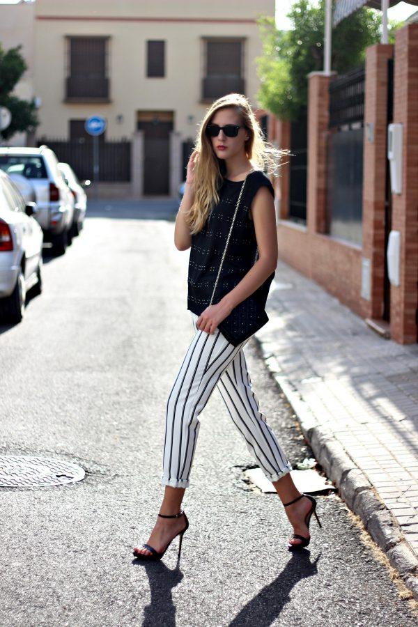 stylish stripe pant bmodish