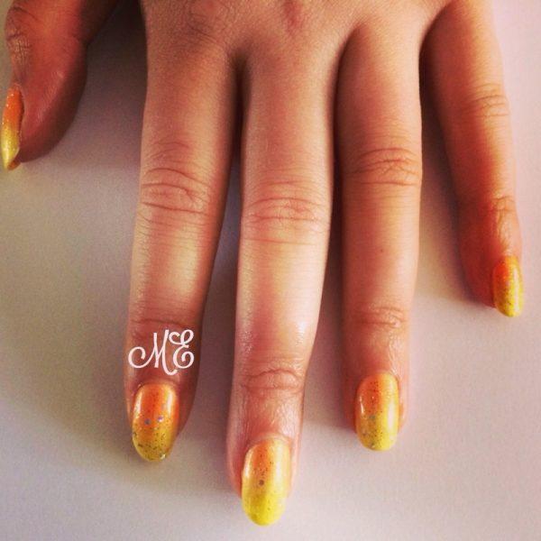 summer gradient glitter nail art bmodish
