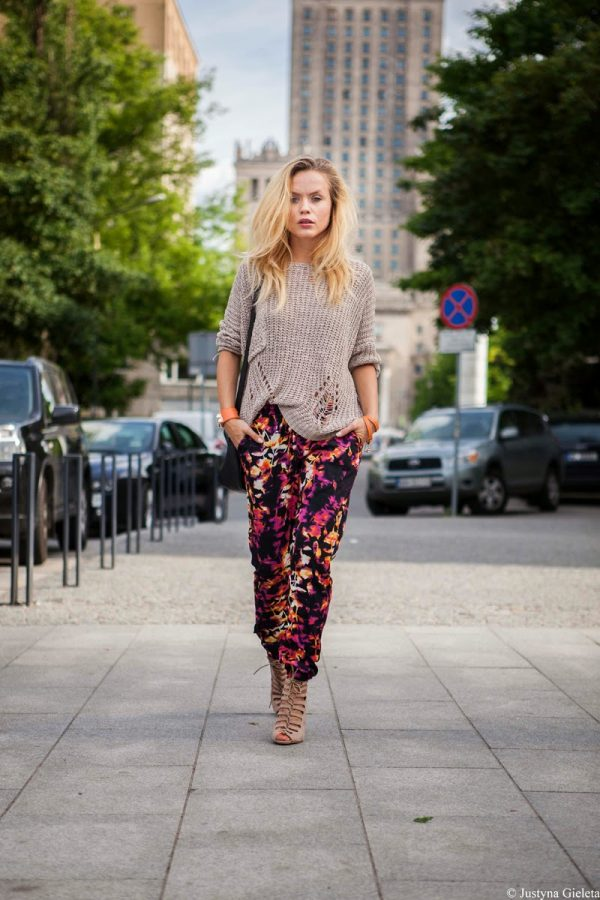 sweater with printed pant bmodish