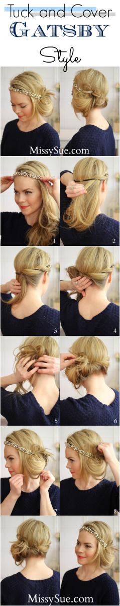 tuck and cover gatsby hair tutorial bmodish