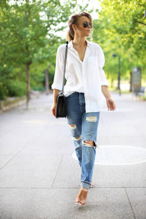 white casual shirt bmodish
