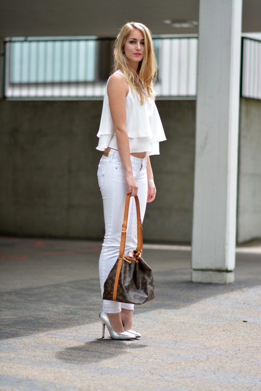 white layered cami top bmodish