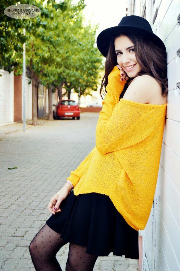 yellow sweater style bmodish