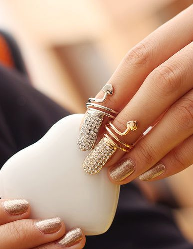 Diamond-Heart-Tail-Nails-Rings bmodish