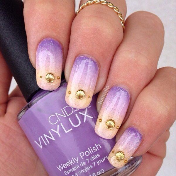 beach gradient nails bmodish