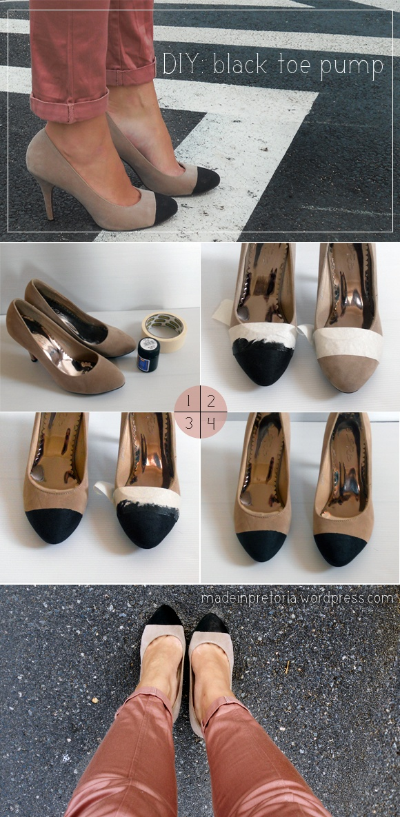 black toe heels diy bmodish