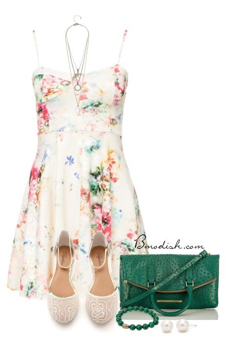 cute outfit with summer dress for casual date bmodish