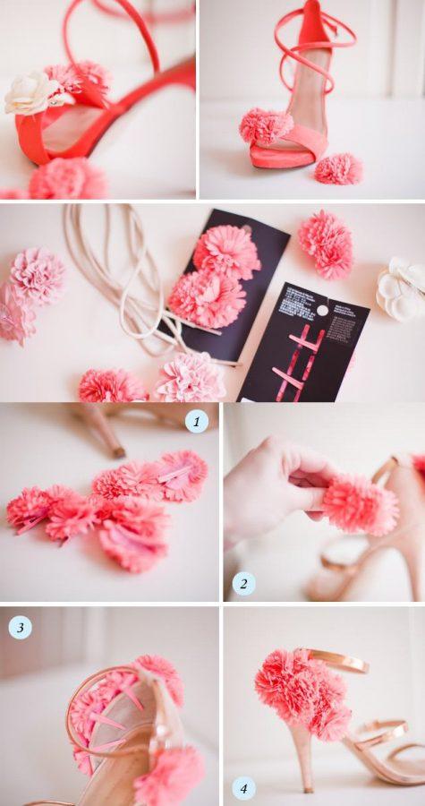 diy flower heels bmodish
