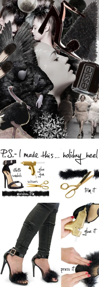 diy holiday heels bmodish