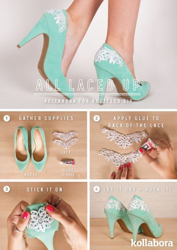 diy lace up heels bmodish