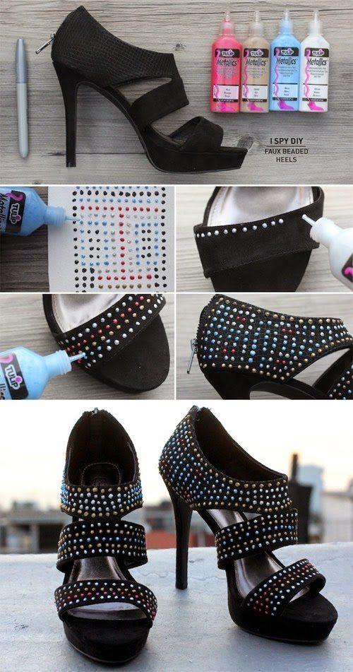 diy studded heels bmodish