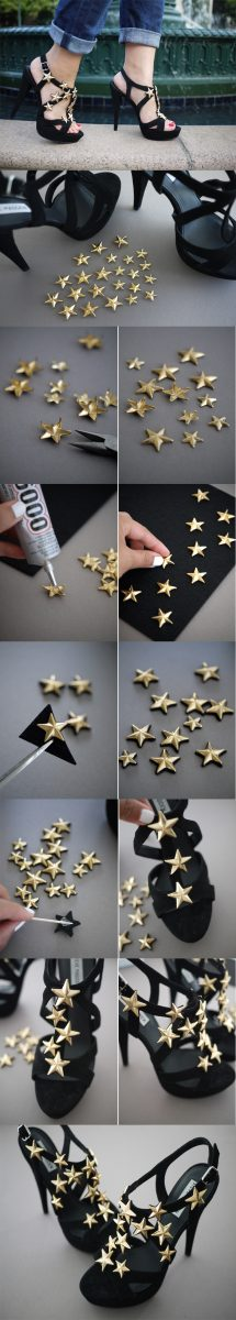 diy studded star heels bmodish