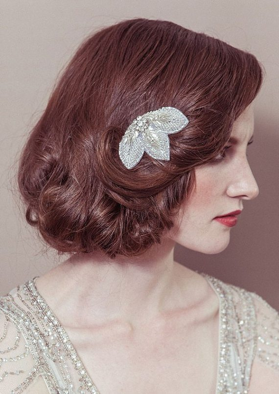 elegant bob wedding hairstyle bmodish