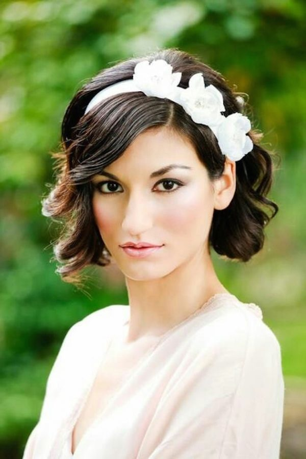 headband bridal short hair bmodish