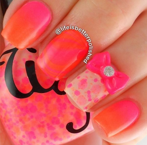 neon gradient nails bmodish