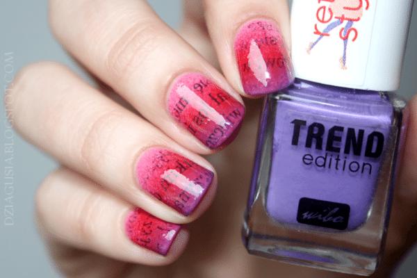 newspaper gradient nails bmodish