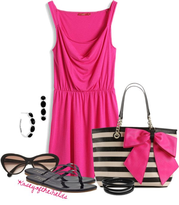 pink casual dress for date bmodish