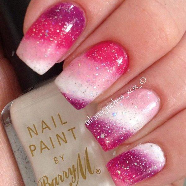 pink gradient nails bmodish