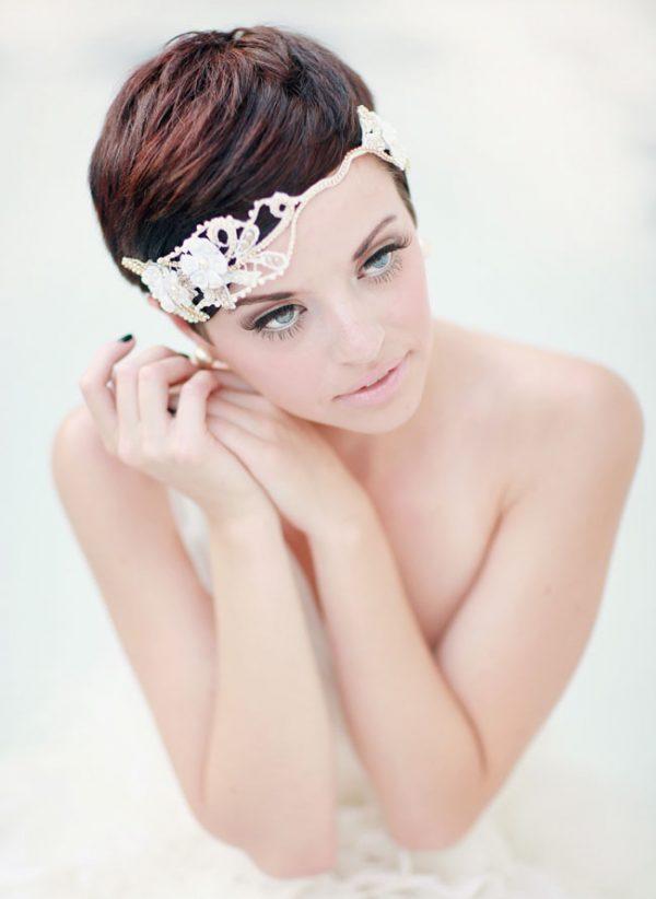pixie cut wedding hairstyle bmodish