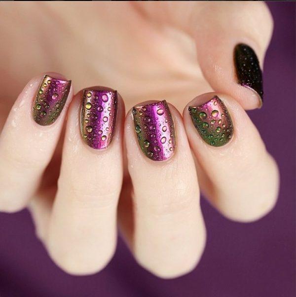purple to green gradient nails bmodish