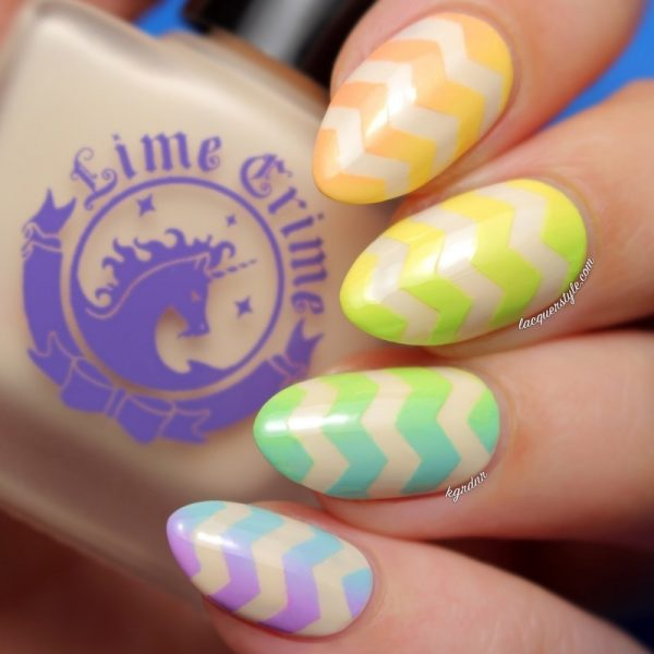 rainbow gradient nail art bmodish