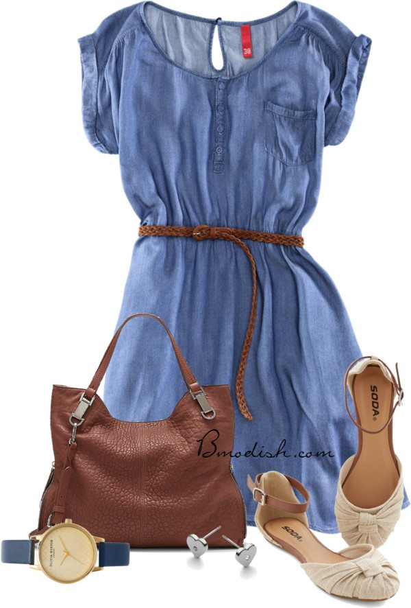 shirt dress casual outfit for date bmodish