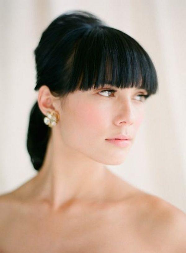 short ponytail wedding short hair bmodish
