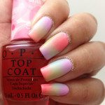 spring ombre gradient nail art bmodish