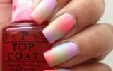 spring ombre gradient nail art bmodish